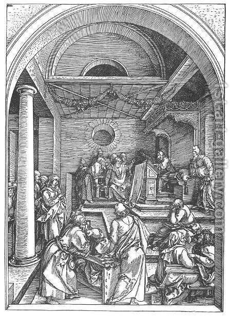 Life of the Virgin 15. Christ among the Doctors in the Temple by Albrecht Durer - Reproduction Oil Painting