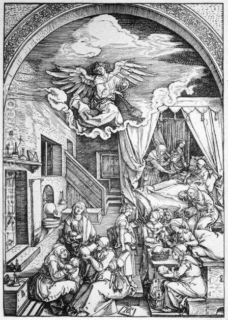 Life of the Virgin 4. The Birth of the Virgin by Albrecht Durer - Reproduction Oil Painting