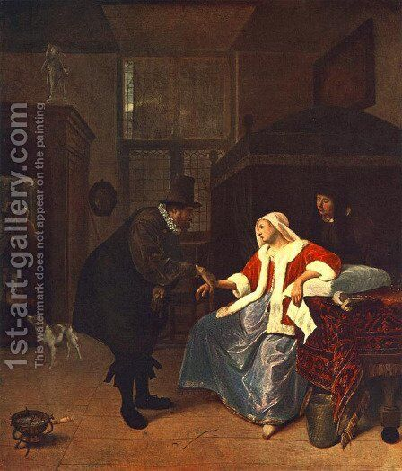 Love Sickness by Jan Steen - Reproduction Oil Painting