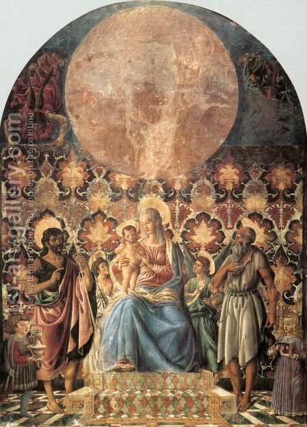 Madonna and Child with Saints by Andrea Del Castagno - Reproduction Oil Painting