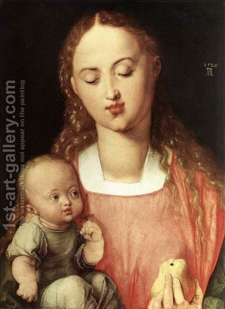 Madonna and Child with the Pear by Albrecht Durer - Reproduction Oil Painting