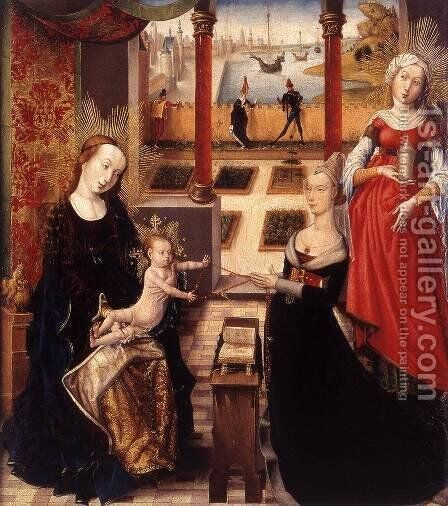 Madonna with Donor and St Mary Magdalene by - Unknown Painter - Reproduction Oil Painting