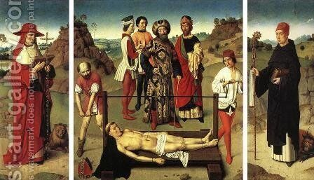 Martyrdom of St Erasmus (triptych) by Dieric the Elder Bouts - Reproduction Oil Painting