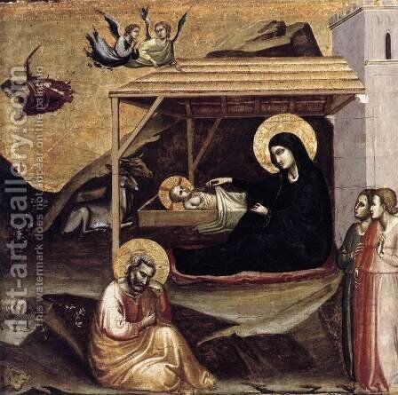 Nativity by Taddeo Gaddi - Reproduction Oil Painting