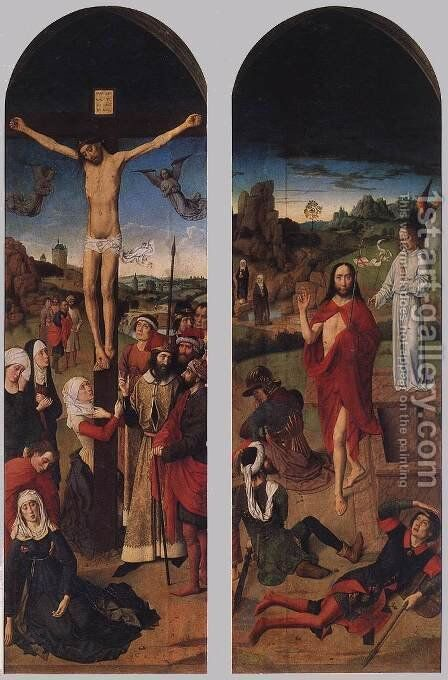 Passion Altarpiece (side wings) by Dieric the Elder Bouts - Reproduction Oil Painting