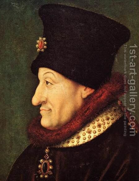 Philip the Bold by - Unknown Painter - Reproduction Oil Painting