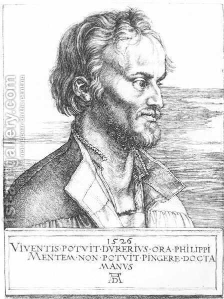 Philipp Melanchthon by Albrecht Durer - Reproduction Oil Painting