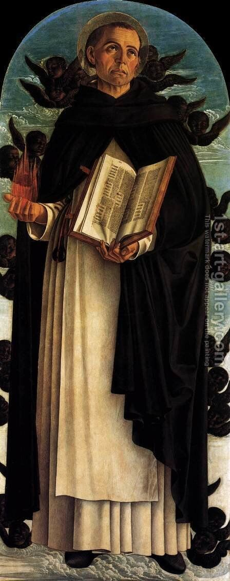 Polyptych of S. Vincenzo Ferreri (central panel) by Giovanni Bellini - Reproduction Oil Painting