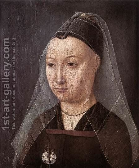 Portrait of a Lady with a Carnation by Master of the Legend of St. Ursula - Reproduction Oil Painting