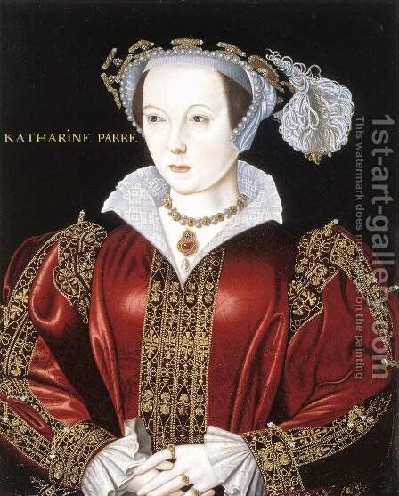 Portrait of Catherine Parr by British Unknown Master - Reproduction Oil Painting