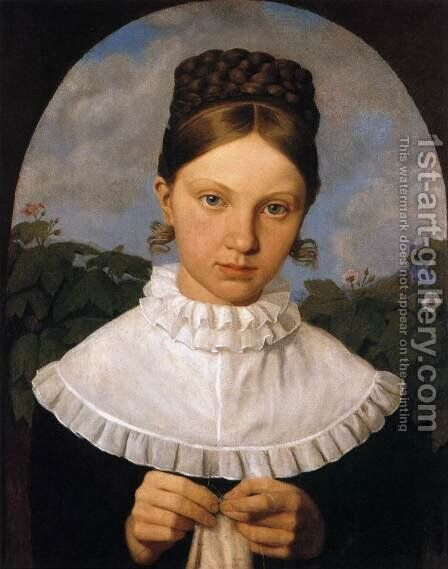Portrait of Fanny Gail by Heinrich Maria von Hess - Reproduction Oil Painting