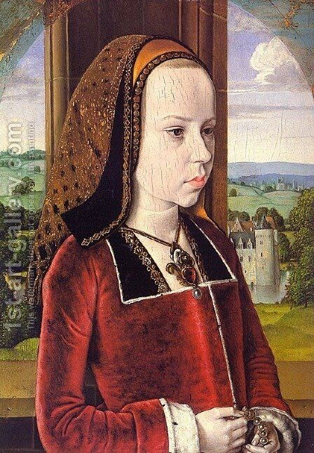 Portrait of Margaret of Austria (Portrait of a Young Princess) by - Unknown Painter - Reproduction Oil Painting