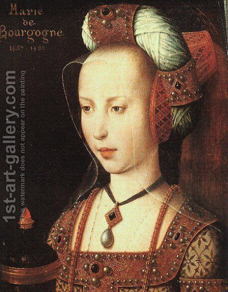 Portrait of Mary of Burgundy by - Unknown Painter - Reproduction Oil Painting