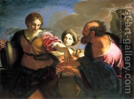 Rebecca and Eliezer at the Well by Carlo Maratti - Reproduction Oil Painting