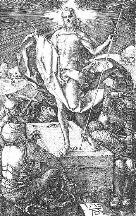 Resurrection (No. 15) by Albrecht Durer - Reproduction Oil Painting