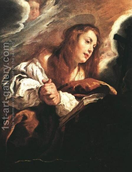 Saint Mary Magdalene Penitent by Domenico Feti - Reproduction Oil Painting