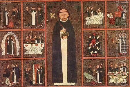 Scenes from the Life of St Dominic by - Unknown Painter - Reproduction Oil Painting