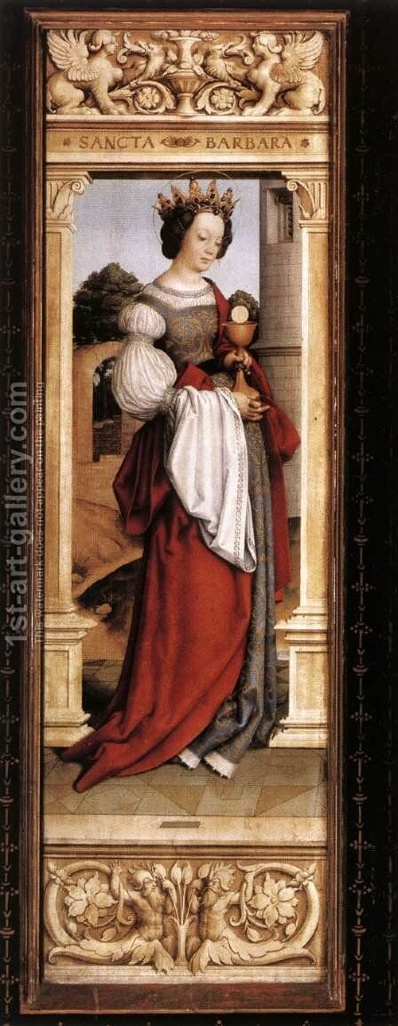 St Barbara by Hans, The Elder Holbein - Reproduction Oil Painting