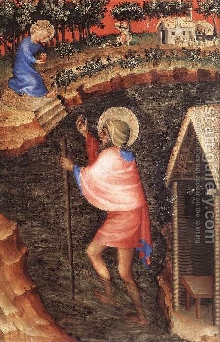 St Christopher by - Unknown Painter - Reproduction Oil Painting