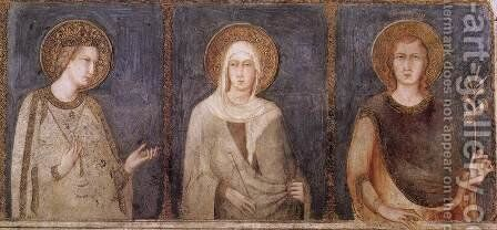 St Elisabeth, St Margaret and Henry of Hungary by Simone Martini - Reproduction Oil Painting