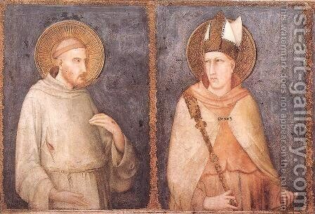 St Francis and St Louis of Toulouse by Simone Martini - Reproduction Oil Painting