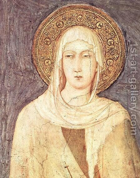 St Margaret by Simone Martini - Reproduction Oil Painting