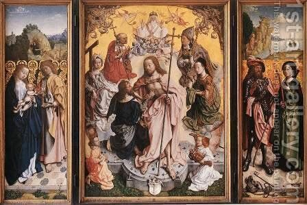 St Thomas Altarpiece by - Unknown Painter - Reproduction Oil Painting
