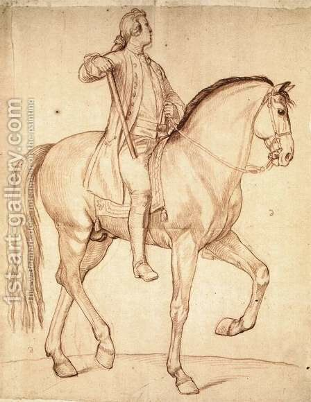 Study for the Equestrian Statue of Louis XV by Edme Bouchardon - Reproduction Oil Painting