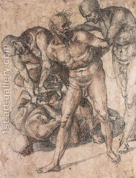 Study of nudes by Luca Signorelli - Reproduction Oil Painting