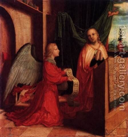 The Annunciation 3 by - Unknown Painter - Reproduction Oil Painting