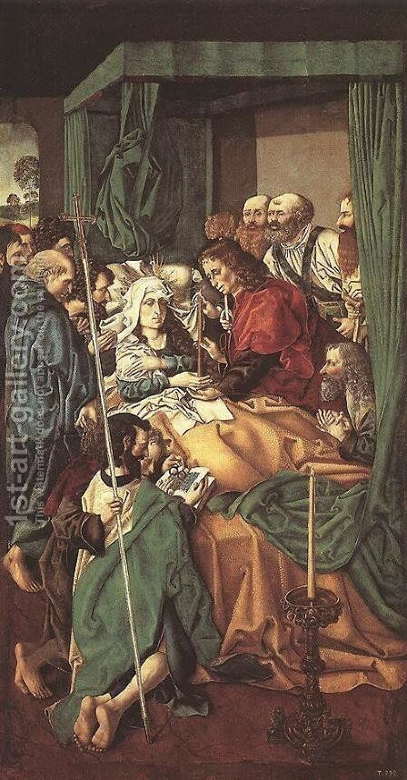 The Death of the Virgin by - Unknown Painter - Reproduction Oil Painting