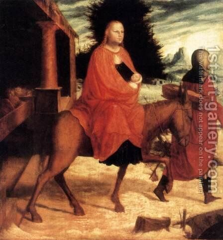 The Flight into Egypt by - Unknown Painter - Reproduction Oil Painting