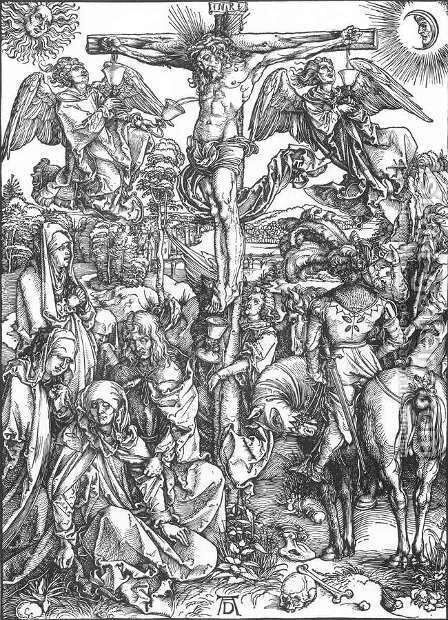The Large Passion 6. The Crucifixion by Albrecht Durer - Reproduction Oil Painting