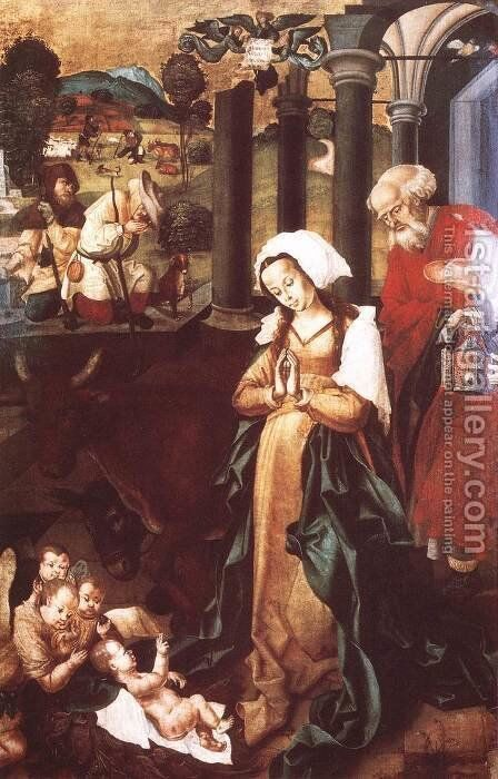 The Nativity by - Unknown Painter - Reproduction Oil Painting