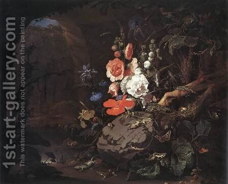 The Nature as a Symbol of Vanitas by Abraham Mignon - Reproduction Oil Painting