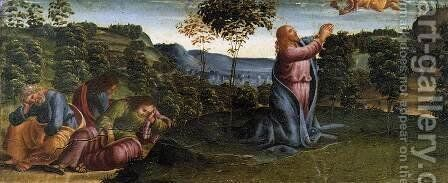 The Prayer in the Garden. by Luca Signorelli - Reproduction Oil Painting