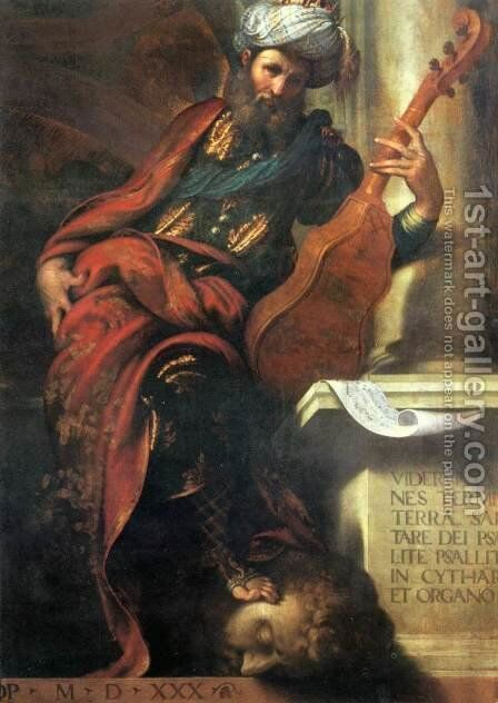 The Prophet David by Camillo Boccaccino - Reproduction Oil Painting