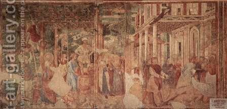 The Vintage and Drunkenness of Noah by Benozzo di Lese di Sandro Gozzoli - Reproduction Oil Painting