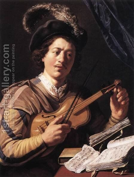 The Violin Player by Jan Lievens - Reproduction Oil Painting