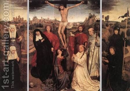 Triptych of Jan Crabbe by Hans Memling - Reproduction Oil Painting