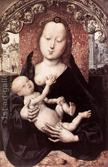 Virgin and Child 2 by - Unknown Painter - Reproduction Oil Painting