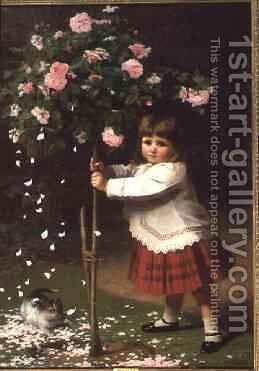 The Young Gardener by James Hayllar - Reproduction Oil Painting