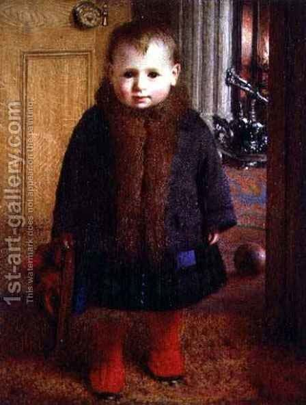 Waiting to go out by James Hayllar - Reproduction Oil Painting
