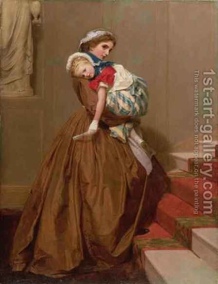 Miss Lilys Return from the Ball by James Hayllar - Reproduction Oil Painting