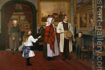 The Picture Gallery at the Hall by James Hayllar - Reproduction Oil Painting