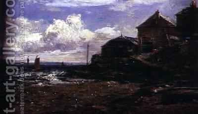 Coastal View by Edwin Hayes - Reproduction Oil Painting