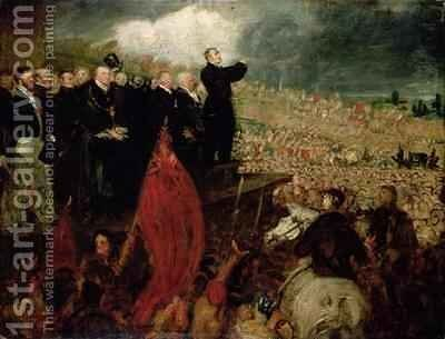 The Meeting of the Unions on Newhall Hill Birmingham by Benjamin Robert Haydon - Reproduction Oil Painting