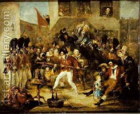 Chairing the Member by Benjamin Robert Haydon - Reproduction Oil Painting