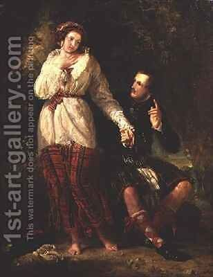 Highland Lovers by Benjamin Robert Haydon - Reproduction Oil Painting