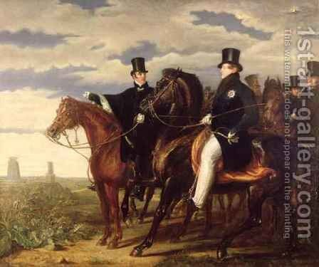 The Duke of Wellington describing the Field of Waterloo to King George IV 1762-1830 by Benjamin Robert Haydon - Reproduction Oil Painting